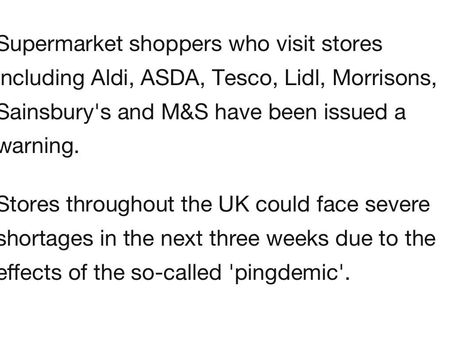 Warning To Shoppers...