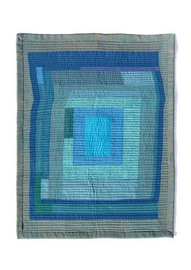 Using colour to make a modern, minimalistic, improv quilt out of fabric remnants.
