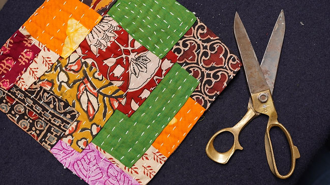 Traditional quilting style of Maharashtra, India