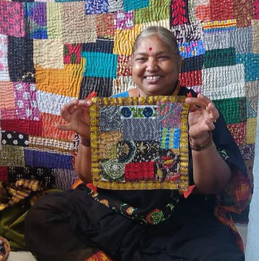 Traditional hand quilted Kowdhi of Uttara Kannada region of India