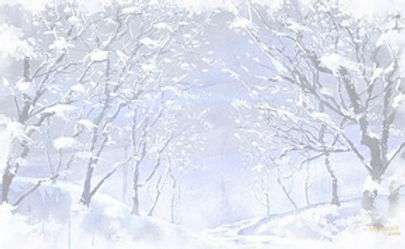 winter scene with snow and trees th6XDEY