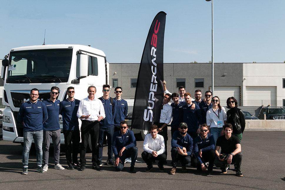 Supercar team staff