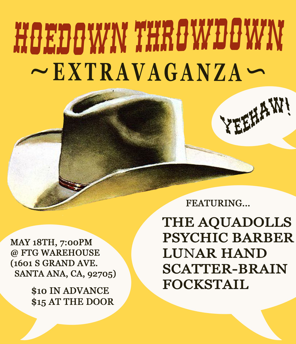 "Graphic Poster for ""Hoedown Throwdown Extravaganza"""