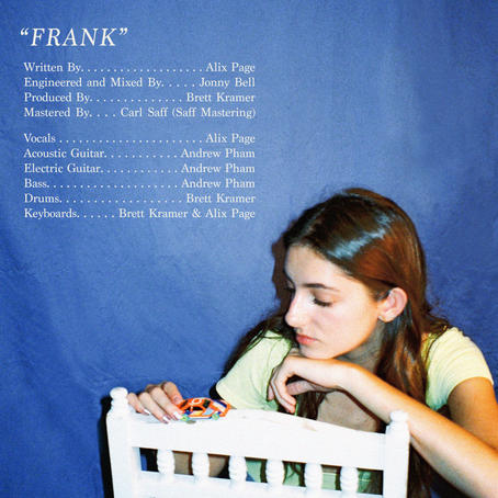 """""""Frank"""" By Alix Page Song Credits"""