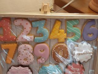 数字&バースデープレートクッキー