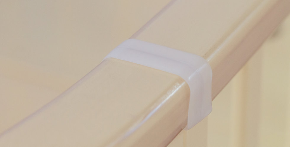 Соединитель для накладок ПВХ П-образный (30х31)