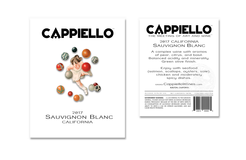 Cappiello 2017 Suavignon Blanc Label