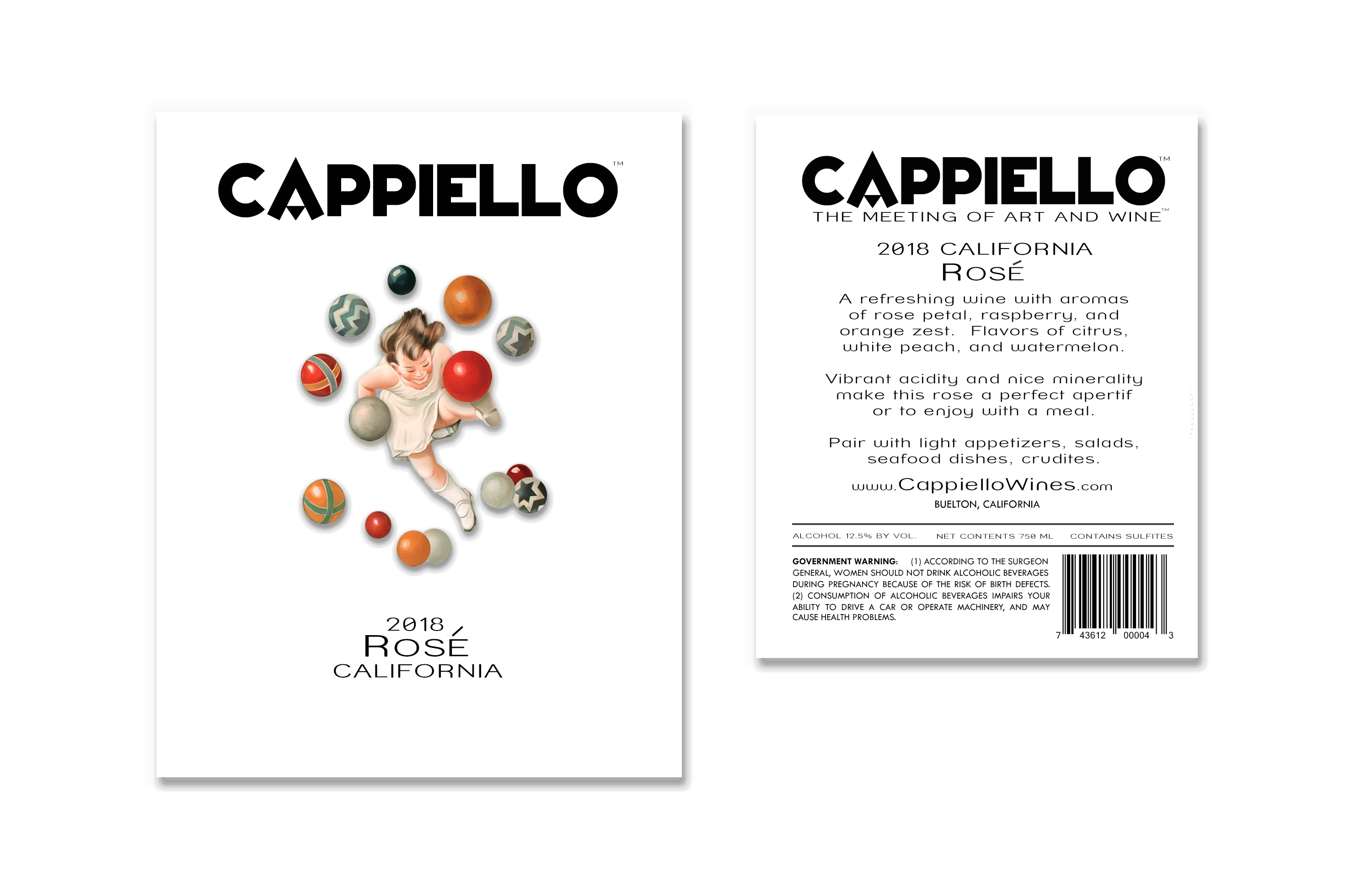 Cappiello Wines 2018 California Rose