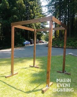 Four post arch arbor chuppah Marin Event
