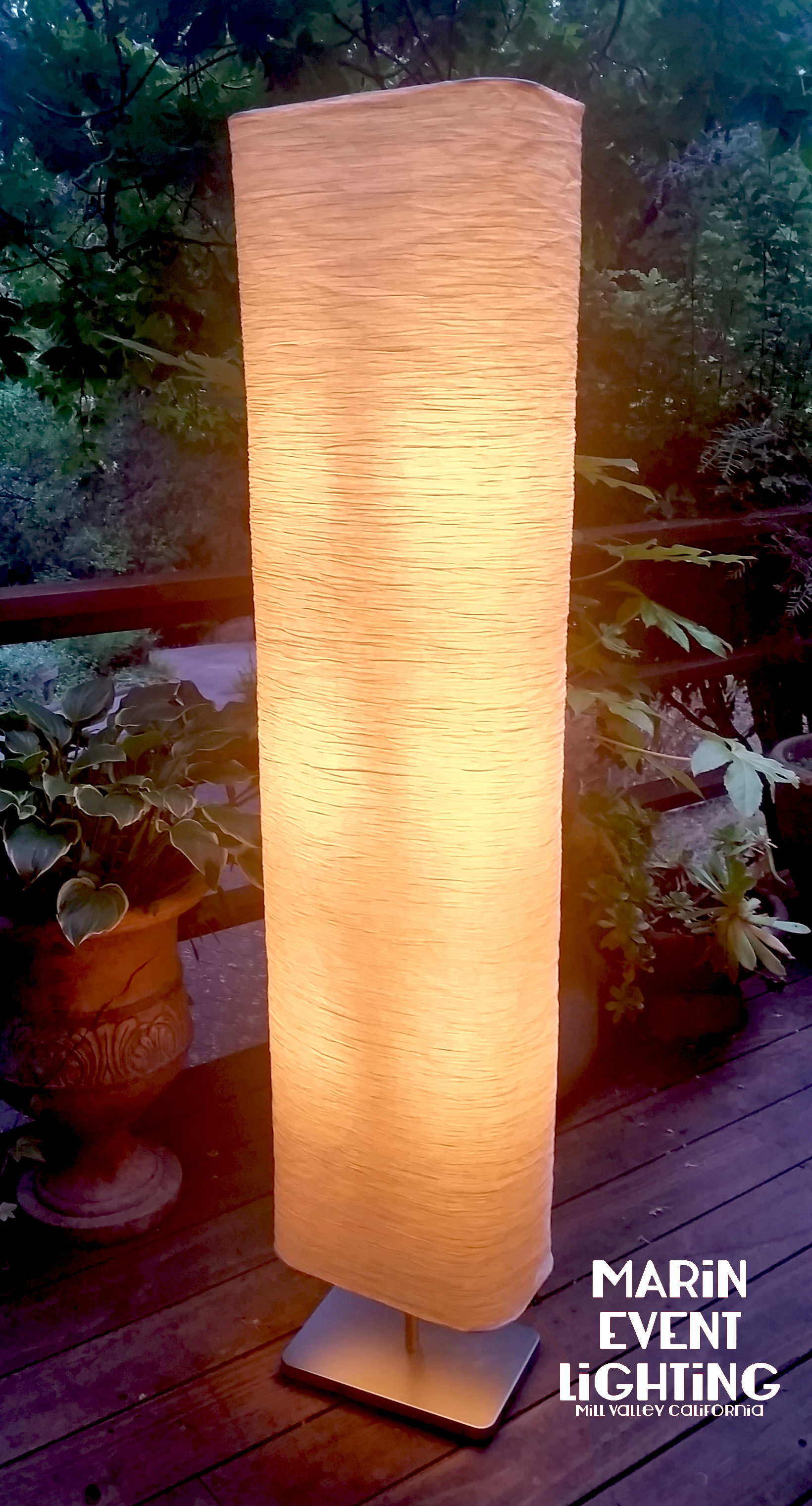 Rice Paper Light Column