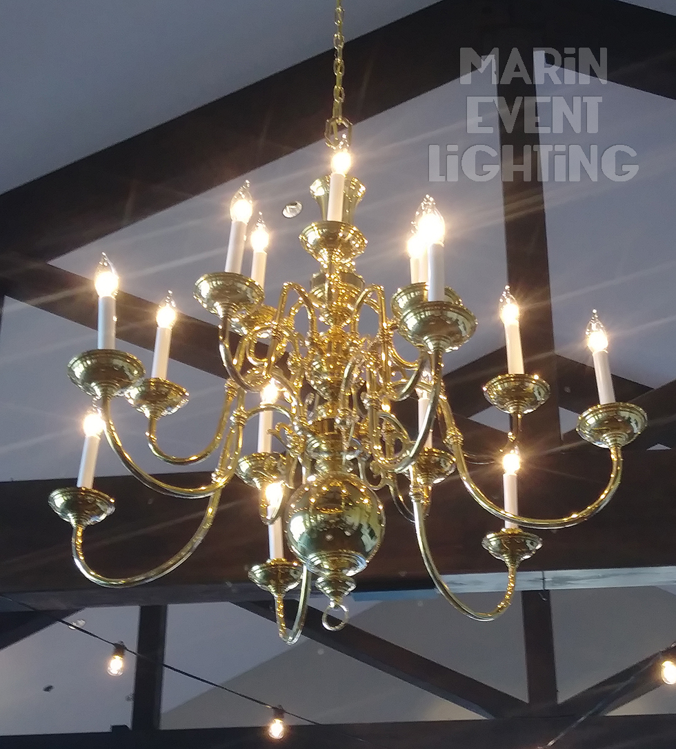 18 Bulb Gold Chandelier marin Event Ligh