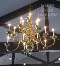 18 Bulb Gold Chandelier marin Event Ligh