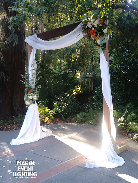Ceremony arch at the Outdoor Art Club