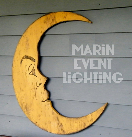 Moon decor from Marin Event Lighting