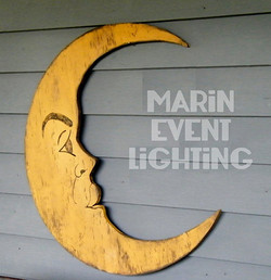 Moon decor from Marin Event Lighting
