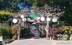 OAC Gate with lanterns