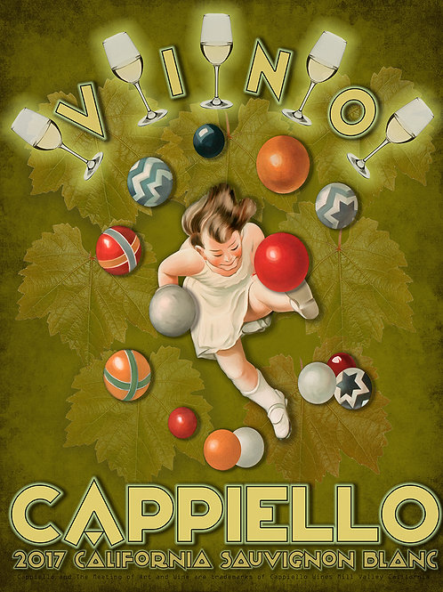 "Limited Edition 22"" x 28"" Cappiello Wines Sauvignon Blanc Fine Art Print"