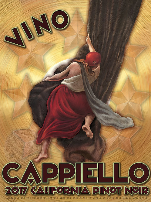 "Limited Edition 22"" x 28"" Cappiello Wines Pinot Noir Fine Art Print"