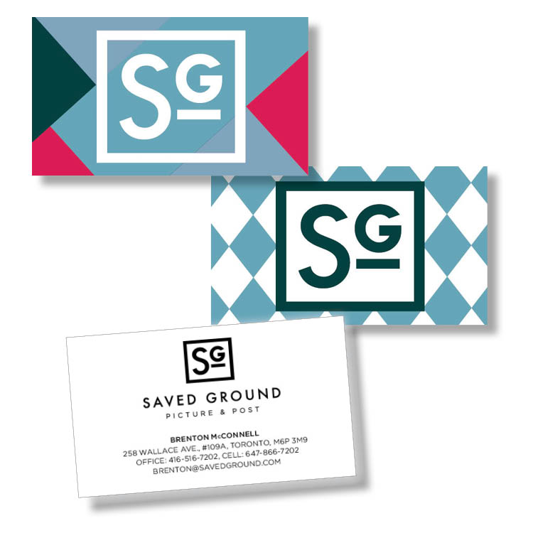 Saved Ground business cards
