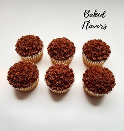 Cupcakes de Vainilla con Buttercream de Chocolate (6u)