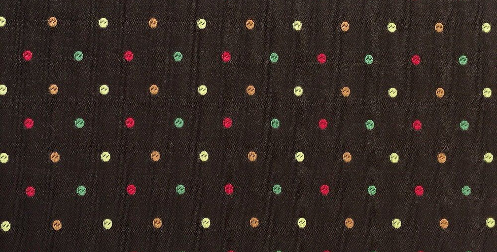Chocolate Brown, Red, Green, Orange & Yellow Dots