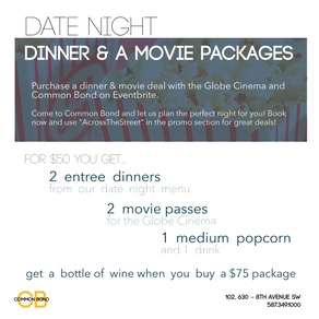 DINNER & A MOVIE PACKAGES