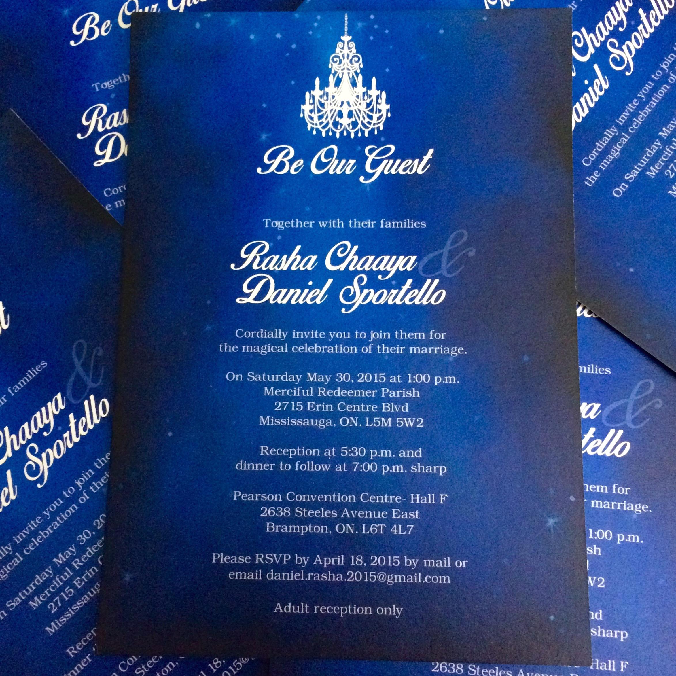 Rasha and David's Wedding Invitation