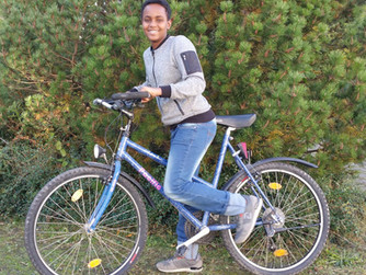 Said hat sich heute sehr über sein neues Fahrrad gefreut. Es fährt super, sagt er. Dankeschön!