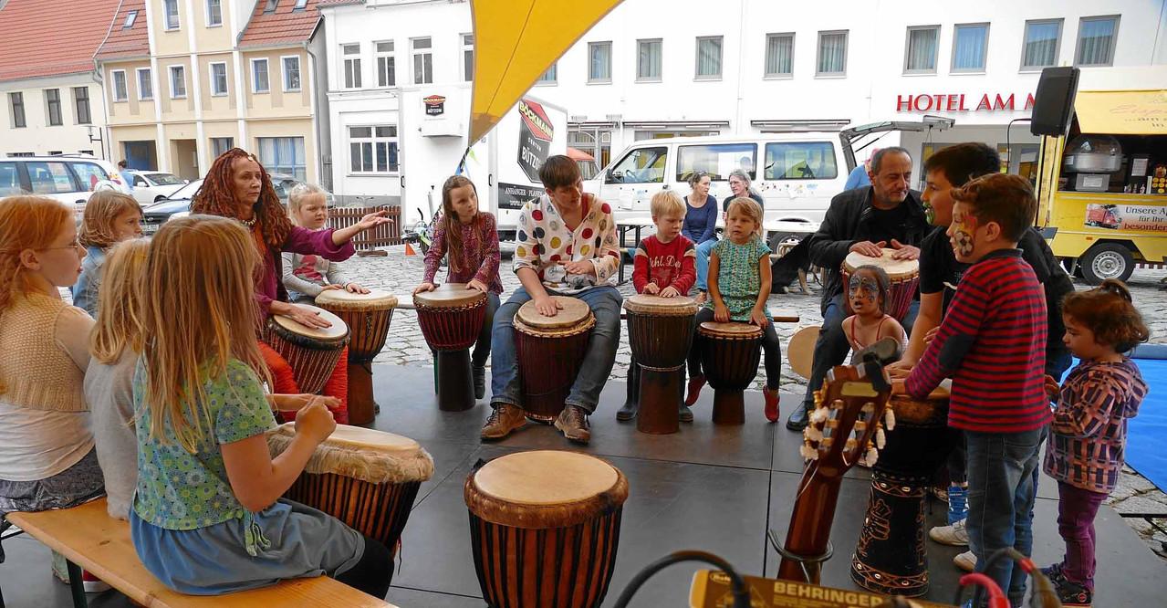 Trommeln mit Barbara Krippendorf