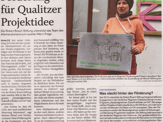 """Förderung für Qualitzer Projektidee"""