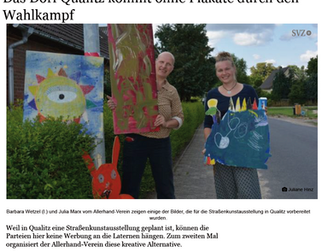 In der SVZ: Straßenkunstaustellung/ Das Dorf Qualitz kommt ohne Plakate durch den Wahlkampf | svz.de