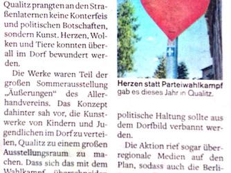 """""""Mit Kunst gegen die Botschaften der NPD"""""""
