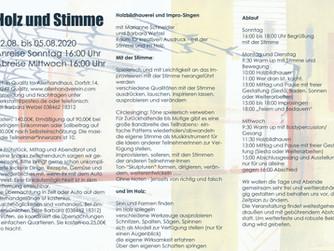 HOLZ und STIMME