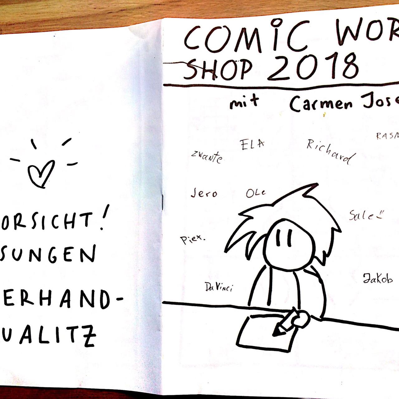 Erstes fertiges Comic