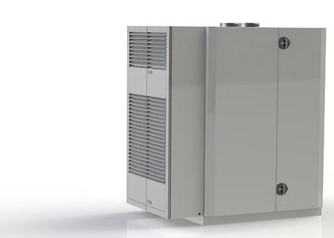 Kuben 600VDX är ventilationsaggregatet för hela villans behov av ventilation, värme och tappvarmvatten.