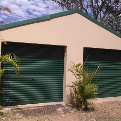 After garage door restoration