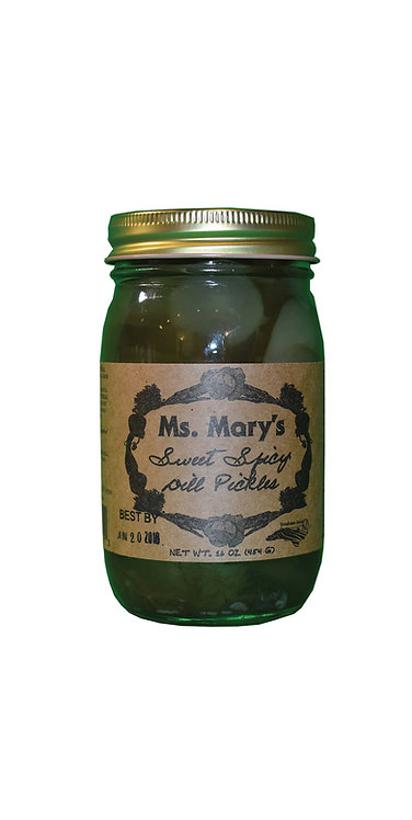Ms. Mary's Sweet Spicy Dill Pickles