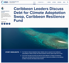 Caribbean Leaders Discuss Debt for Climate Adaptation Swap, Caribbean Resilience Fund