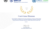 Certificate of Participation in The One UN Climate Change Learning Partnership Introductory e-course