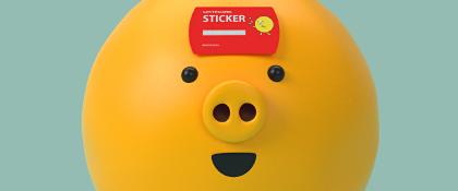 LOTTE STICKER CARD