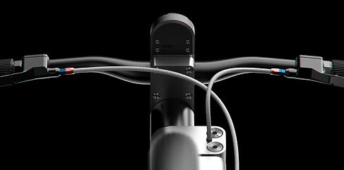 guidon de vélo design. Compteur de vél.
