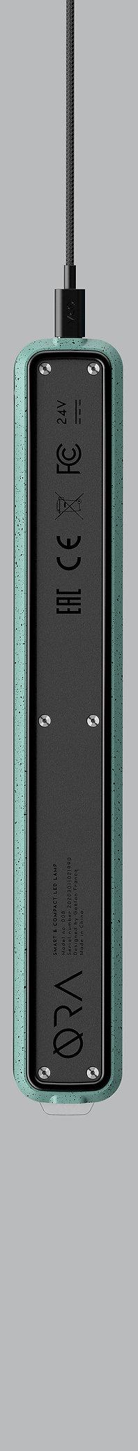 Lampe de bureau design pliable vert