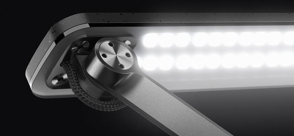 Lampe de bureau design avec un éclairage led