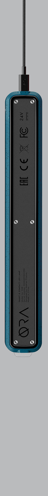 Lampe de bureau design pliable bleu