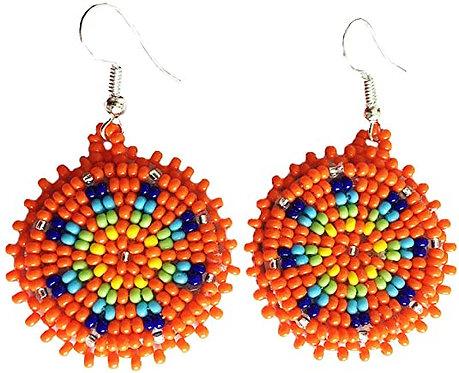 Orange Masaai Beaded Earrings