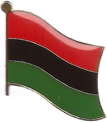 Red, Black & Green Flag Lapel Pins