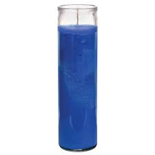 7 Day Glass Blue Candle