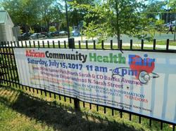 African Community Health Fair Sign