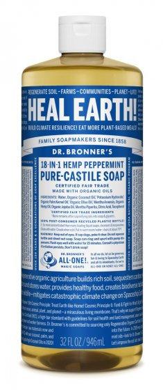 Bronner's Liquid Castille Peppermint Soap