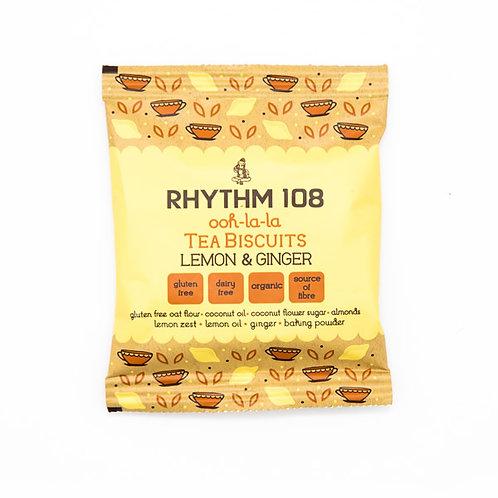 Rhythm 108 Galletas de Té de Limón y Jengibre 24g